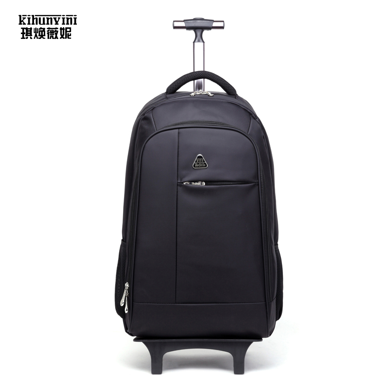 Travel Backpack On Wheel Trolley Bag High End Luxury Famous Designer Draw Bar Pack Men And Women Travelling Sac For Trip Mochila high quality authentic famous polo golf double clothing bag men travel golf shoes bag custom handbag large capacity45 26 34 cm