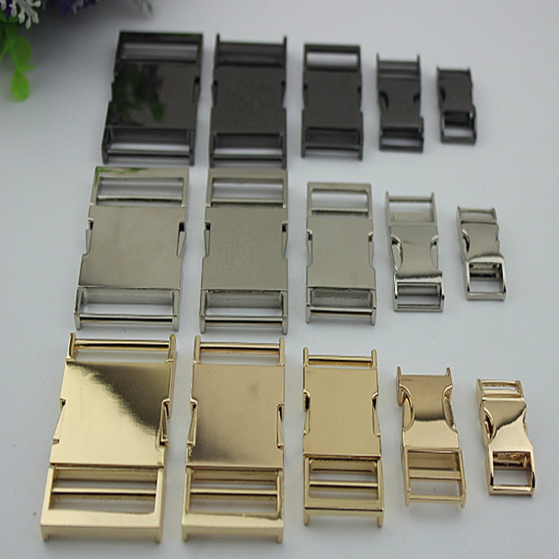 (6pcs/ lot) Gold, Silver, Gun Black Metal Buckles Rings Side Release Buckle Clip for Webbing Strap Belt 38mm 32mm 25mm 19mm 14mm bronze silver gold buckles shoes slippers sandals shoes strap laces clothing bag 8mm belts buckle clip 500pcs lot free shipping