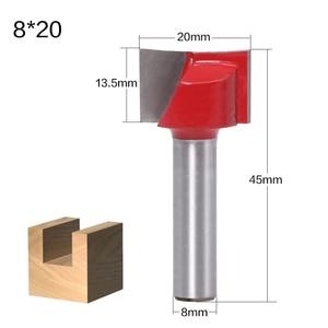 Image 4 - 1 Pc 8mm tige de nettoyage fond bois routeur Bit CNC Face moulin routeur mèches boiserie fraise fin fraise outil carbure fraises pour bois