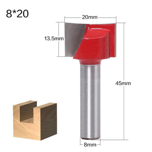 Image 4 - 1Pc 8mm Shank Cleaning Bottom Wood Router Bit CNC Face Mill Router Bits Woodwork End Mill Cutter Tool Carbide Cutters For Wood