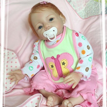 New NPK Handmade Reborn Baby Dolls 22 Inch 55cm Soft Silicone Realistic Newborn Babies With Magnetic