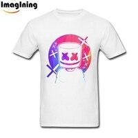 Marshmello Tee Shirts Over Size Male S New Tee Shirts