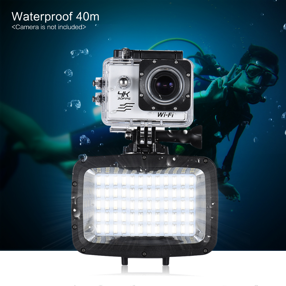 Andoer Mini 60pcs LED Video Light 1800LM 3 Modes Waterproof 5500K Fill in Light Lamp for GoPro Xiaomi SJCAM Canon Nikon Sony-in Photographic Lighting from Consumer Electronics    2