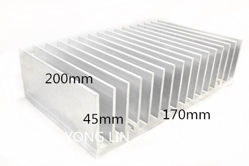 1pcs Heatsink 170*45-200MM/Aluminum/High-power heatsink/Special chassis cooling/Dedicated high-power electronics cooling