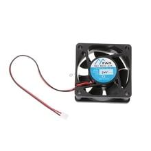 6025 DC 12V 24V 2-Pin Cooler Brushless PC CPU Case Cooling Fan 60mm-60mm-25mm