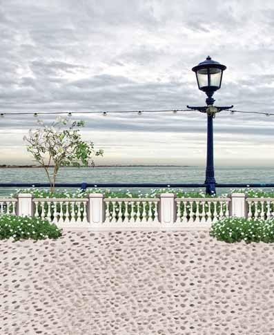 Sea Scenic Balcony Photography Digital Backdrop Cloth Backgrounds Studio Camera Photos Muslin Vinyl Background Spray Painted