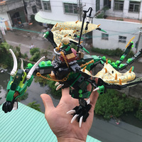 618Pcs 2016 New Ninjagoes The Green NRG Dragon Model Building Kits Figures Blocks Bricks Toys Compatible
