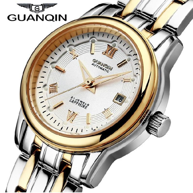 ФОТО Relojes Mujer 2016 GUANQIN Watch Women Fully-Automatic Mechanical Fashion Self-Wind Waterproof Luminous Watch Women