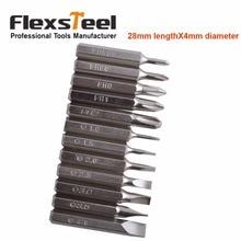 Flexsteel Good Quality 12PCS CR-V Precision Screwdriver Bit Set IncludesPH000,PH00,PH0,PH1,PH2,SL1,SL1.5,SL2,SL2.5,SL3,SL3.5,SL4
