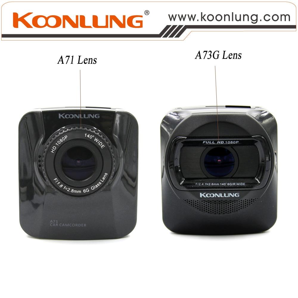 ФОТО Car DVR 1080P HD Camera Koonlung Car Cam Model A71N Recorder G-Sensor Motion Detection Cycle Recording Original Quality