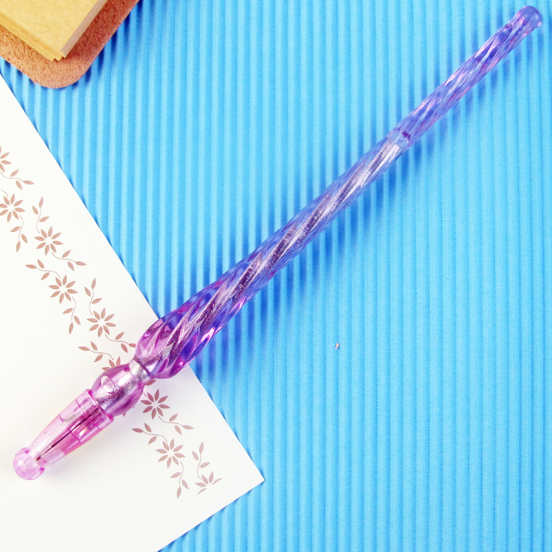 1 Pcs 2018 new Creative Plastic transparent Pen Ballpoint Pens Stationery gel pen 3 Colors Water gel pen Black Refill 0 5 mm in Gel Pens from Office School Supplies