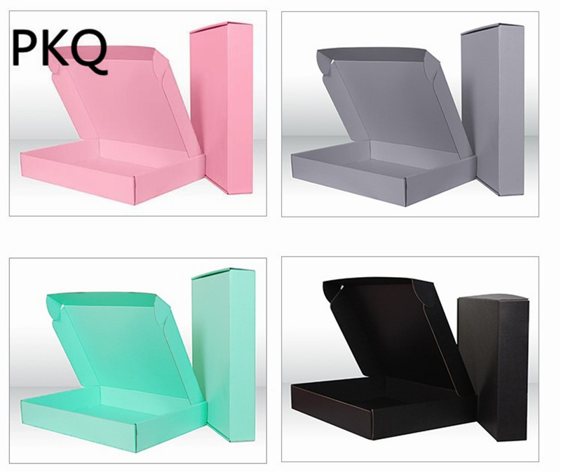 Natural Kraft Blank Box Cartons Gift Packing Boxes Multi function Crafts Box Party Pack Corrugated Box