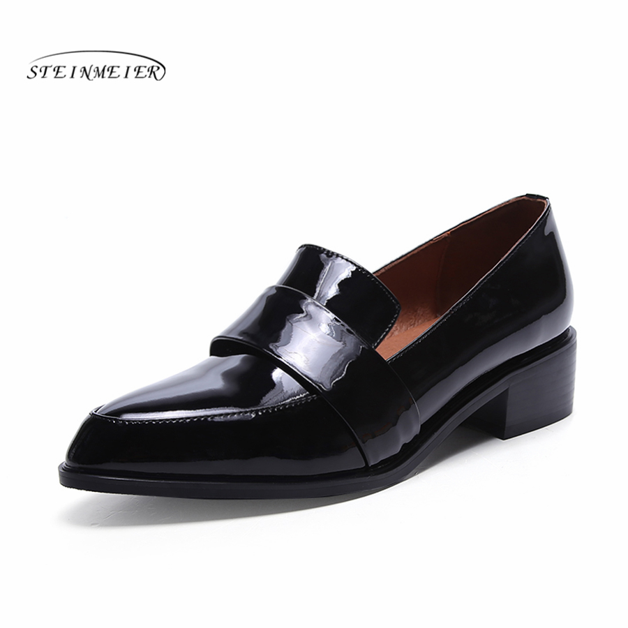 Women Genuine leather flat oxford shoes designer vintage handmade 4cm black oxfords shoes for women genuine leather woman size 9 designer yinzo vintage flat shoes round toe handmade black grey oxford shoes for women 2017
