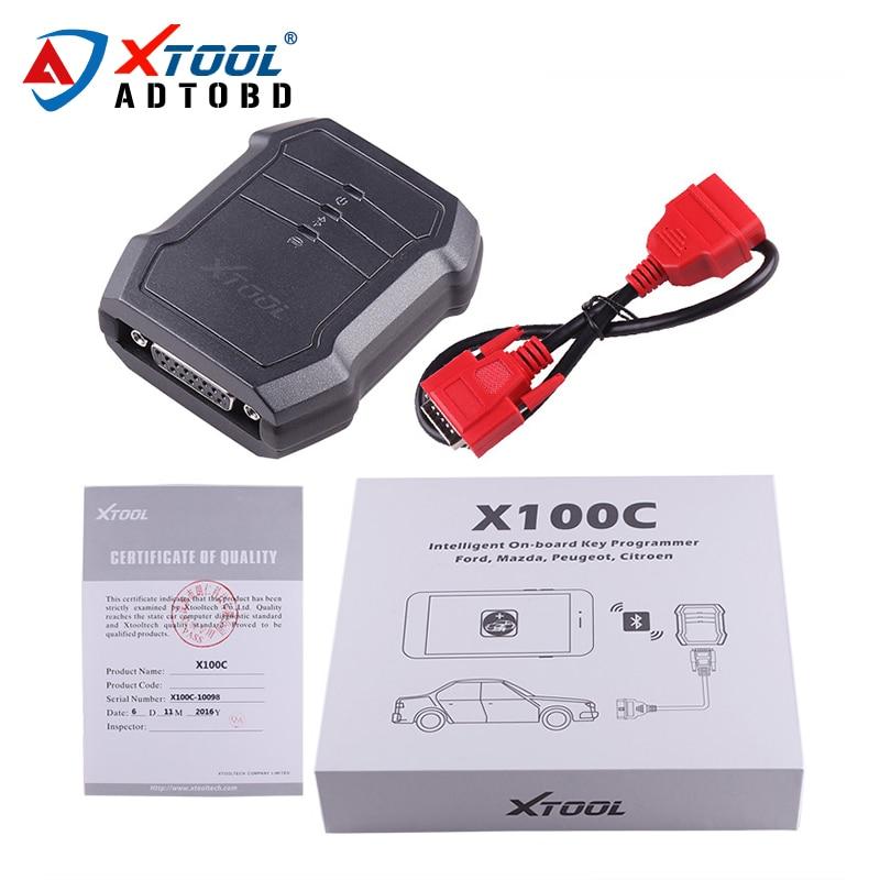 Prix pour D'origine XTOOL X100C Auto Clé Programmeur pour iOS Android mieux que F100 F102 F108 X100 C Code Pin Lecteur avec Fonction Spéciale