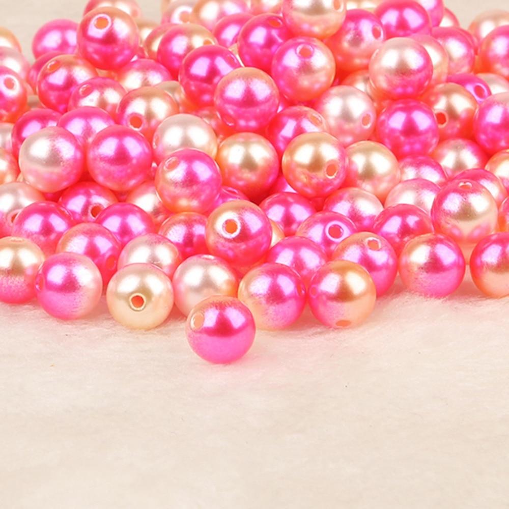 Новый 50-500 шт. диаметр 4,6, 8,10 мм ABS имитация жемчуг круглый Пластик АБС свободные шарики для Цепочки и ожерелья Браслет DIY ювелирных изделий