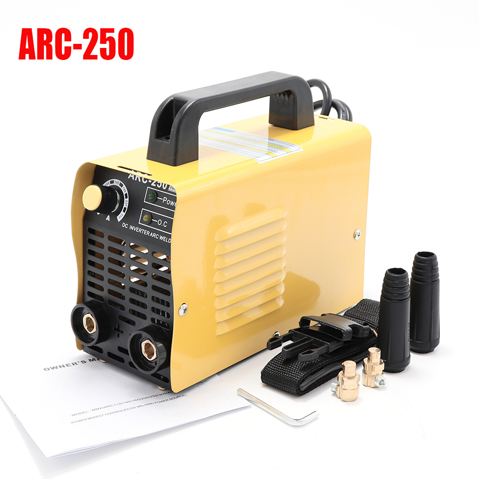 ARC-250/ARC-200I IGBT tube 110V, 220V inverter DC small welding machine mini manual arc welding machineARC-250/ARC-200I IGBT tube 110V, 220V inverter DC small welding machine mini manual arc welding machine