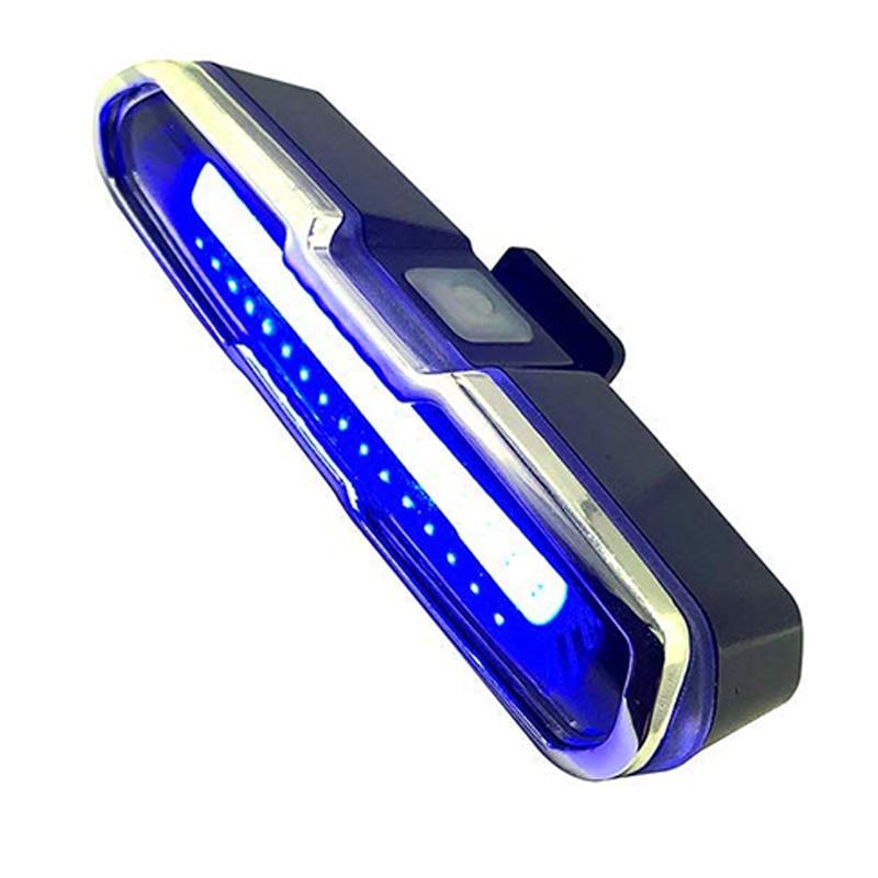 LED Bike Tail Light Red & Blue USB Rechargeable Waterproof Super Bright Multipurpose Emergency Light