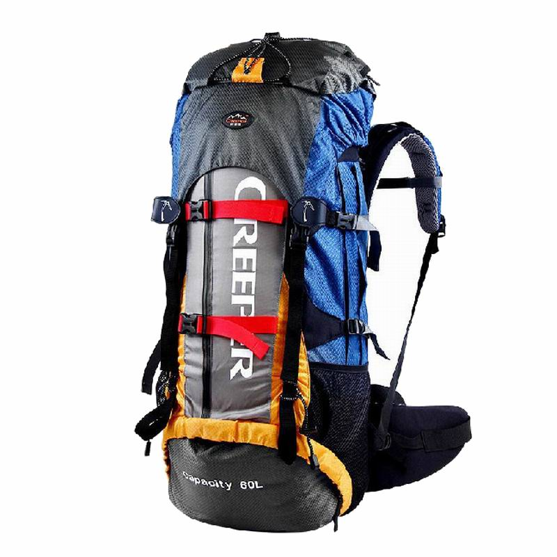 ФОТО New arrival 60L double-shoulder mountaineering bag high quality Nylon travel backpack YD-171
