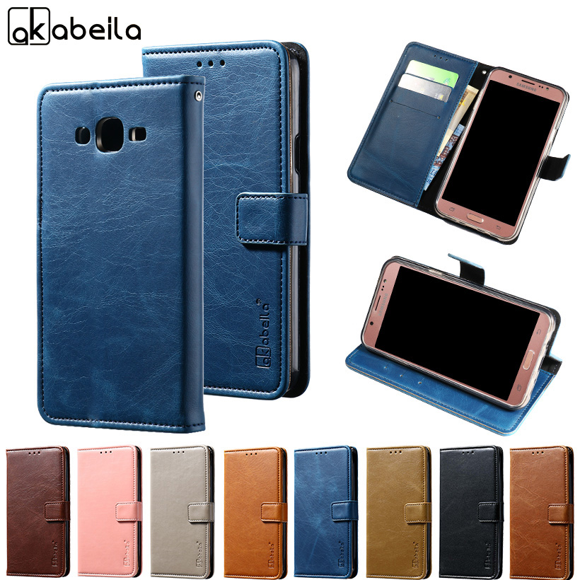 AKABEILA Wallet Leather Case for Samsung Galaxy J7 2015 J700F J700FN J700F/DS J700 J7008 J700H 5.5 inch Cover Card Hold Coque