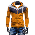 Hot Sale! 2017 New Fashion Contrasting Color Mens Hoodies, Casual Male Sweatshirt, Man  Fleece Coats Tracksuit