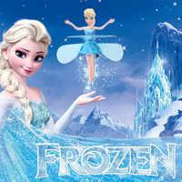 Juguetes de muñecas voladoras de Control de aviones suspendidos voladores de princesa Elsa hada mágica