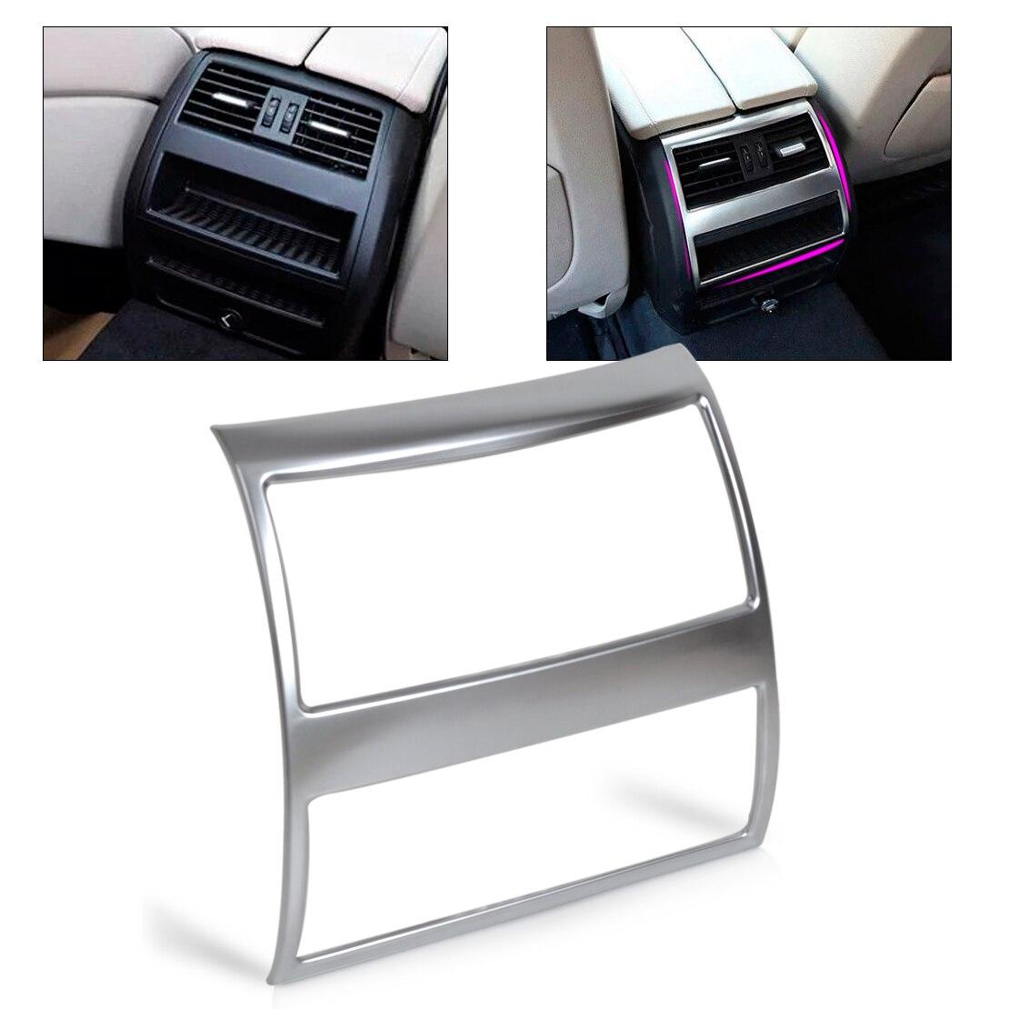 beler Chrome Armrest Box Rear Air Condition Vent Trim Outlet Cover For BMW 5 Series F10 F11 535i 550i 520i 2011 2012 2013 2014