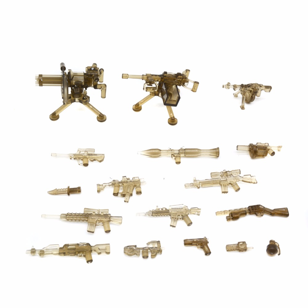 Koolfigure Custom Weapon Pack for Army Soldies,Guns and Artillery designed for Military Figures,Building Toys Accessories