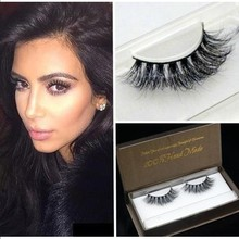 Pure Handmade 100% real Siberian Mink False eyelashes messy