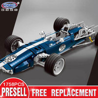 XINGBAO 03022 Genuine 1758PCS The Blue Racing Car Set Building Blocks Bricks Educational Funny Toys As