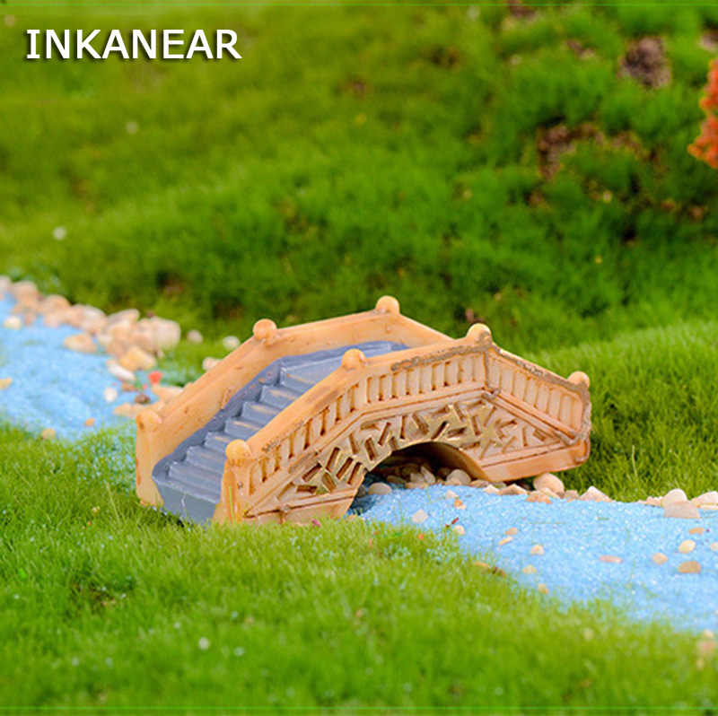 Kawaii Antique Arch Bridge Model Resin Fairy Garden Miniature/Terrarium Ornaments Figurines DIY Accessories Decoration
