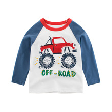 Fashion New Autumn Children T-Shirt Cotton Boys Clothing Girl Tee Shirts Outfits Kids Tops T Shirts Long Sleeve Bottom Clothes недорого