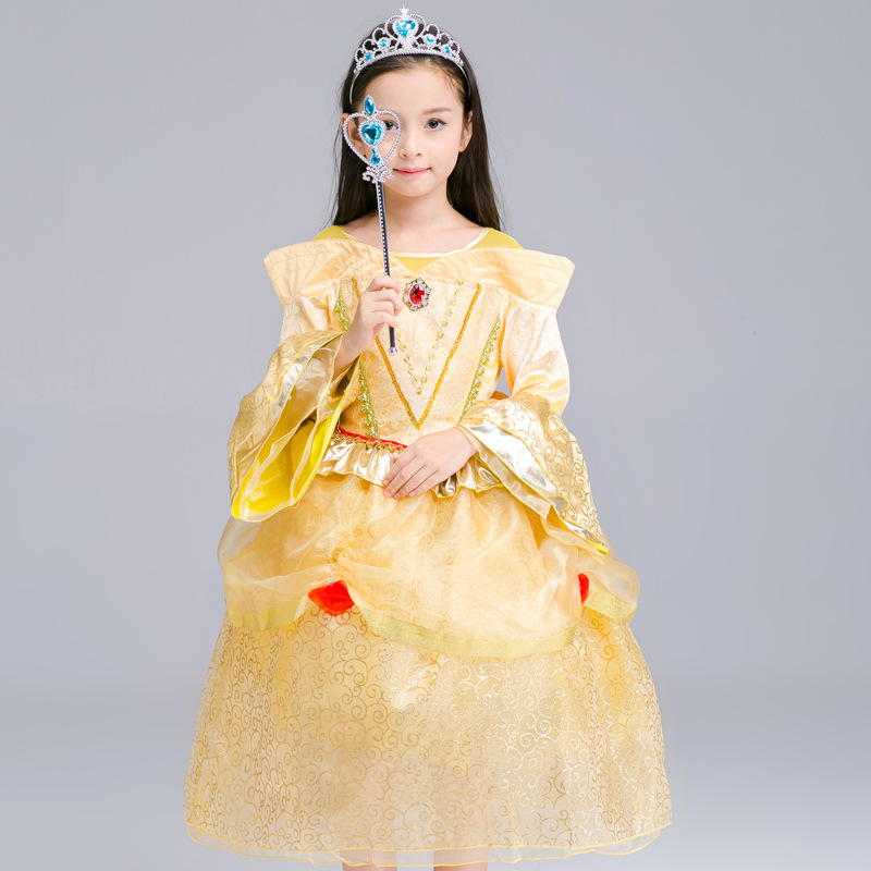 Princess For Girl Dress Kids Vestir Anna Elsa Costumes Dresses for Girls The Snow Queen Christmas Toddler Children Clothing L-65 christmas international children s day costumes girls dresses for princess new year birthday dress snow queen kids clothes