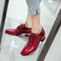 Мода 4 Охлаждает Женщин Повседневная Обувь Популярные Квадратных Ног Квадратных каблуки Красивый Черный Красный Ню Белые Туфли Женщина Размер США 4-14