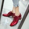 Moda 4 Enfría Mujeres Zapatos Casuales Populares Zapatos de Punta Cuadrada Cuadrada tacones Hermosa Nude Rojo Negro Blanco Zapatos de Mujer EE. UU. Tamaño 4-14