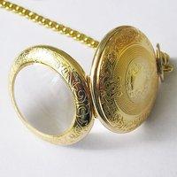 2010 Nice Gold Tone Case Rare 18 Century Style Pocket Watch Freeship