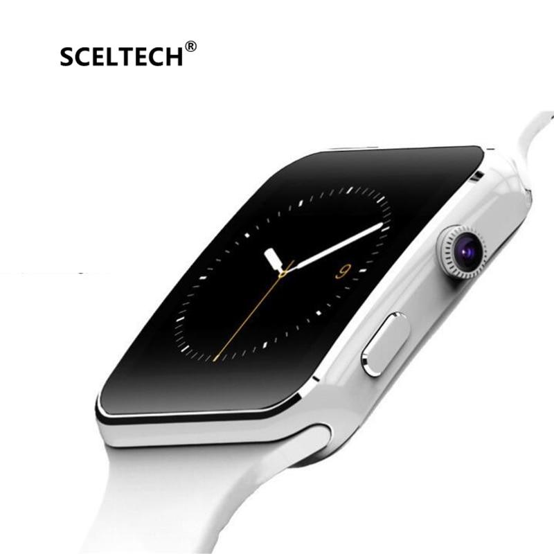 SCELTECH Bluetooth Smart Uhr X6 Sport Passometer Smartwatch mit Kamera Unterstützung SIM Karte Whatsapp Facebook für Android-Handy
