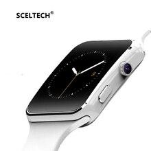 SCELTECH Bluetooth Smart Watch X6 Спорт Шагомер Smartwatch с камера Поддержка SIM WhatsApp Facebook для телефона Android