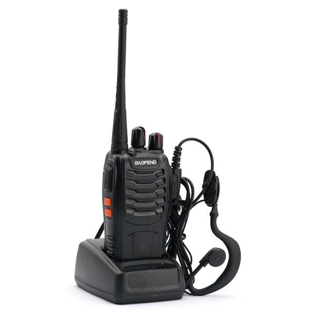 imágenes para Baofeng 888 s walkie talkie 5 w uhf 400-470 mhz jamón transceptor portátil de mano de dos vías de radio bf-888s a7154a 1500 mah de la batería