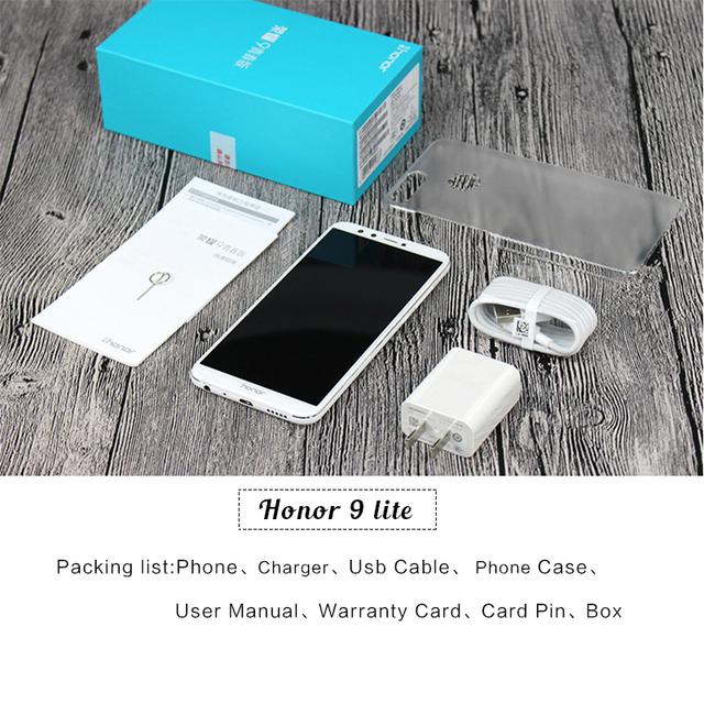 Huawei Honor 9 Lite 5.65″ Full View Screen 2160*1080Pix Android 8.0 Smartphone Octa Core 4 Cameras Fingerprint mobile phone