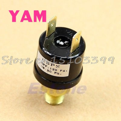 New 90 PSI -120 PSI Air Compressor Pressure Control Switch Valve Heavy Duty G08 Drop ship heavy duty air compressor pressure control switch valve 90 120psi 12 bar 20a ac220v 4 port 12 5 x 8 x 5cm promotion price