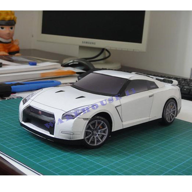 Free Shipping 2013 New Products 3d Paper Models Car NISSAN