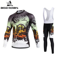 2017 AZD108 Men Specialized Cycling Jersey Long Sleeve Bike Pro Team Funny Custom Maillot Ropa Ciclismo