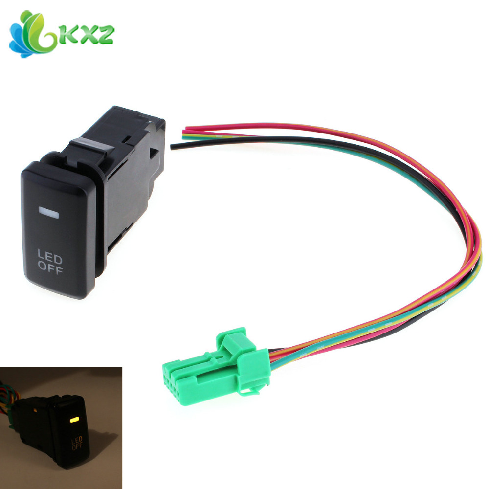 Auto Car Accessory Fog Light Switch LED On Off Locking Fog Lamp Switch Button for Toyota