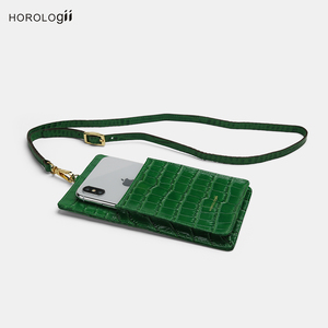 Image 4 - Horologii Fashion etui z funkcją portfela na telefon telefony komórkowe miejsce na karty kredytowe ze smyczą skóra bydlęca z wzorem krokodyla nazwa własna
