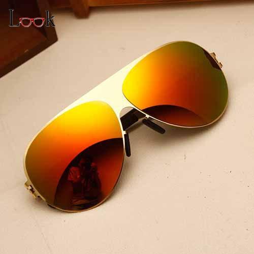 Nova Marca Designer Piloto Óculos De Sol Das Mulheres Do Esporte Da Forma  de Grandes Dimensões óculos de Sol Sem Aro Homens Sapo Espelho óculos de  Sol ... bdf3f9e056