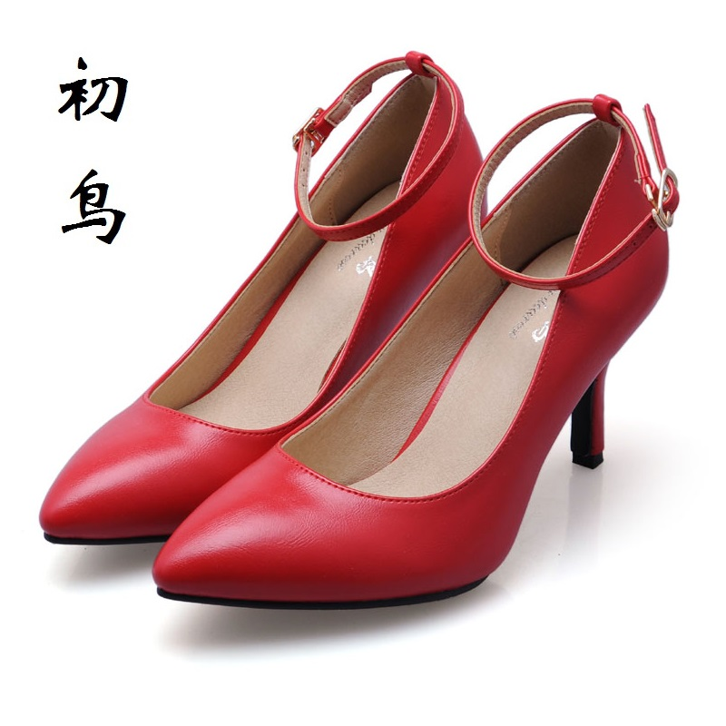 2017 Size 33-41 Elegant Red Sexy Pointed Toe High Heels Talon Women Pumps Ladies Wedding Shoes Woman Chaussure Femme have black new 2017 spring summer women shoes pointed toe high quality brand fashion womens flats ladies plus size 41 sweet flock t179