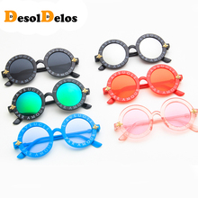 Vintage Steampunk Bee Kids Sunglasses Boys Girls Luxury Children Round Sun Glasses Oculos Feminino Accessories