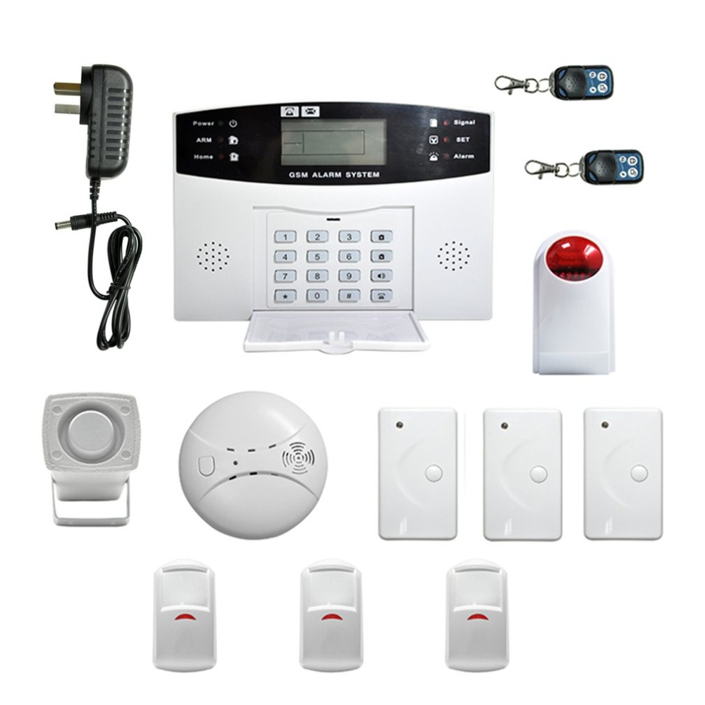 Easy Installation LCD Display Wireless GSM Autodial Security System Burglar Intruder Alarm Apparatus For Home House Office new safurance wireless lcd gsm sms autodial alarm security home house burglar intruder system home safety alarm mainframe kits