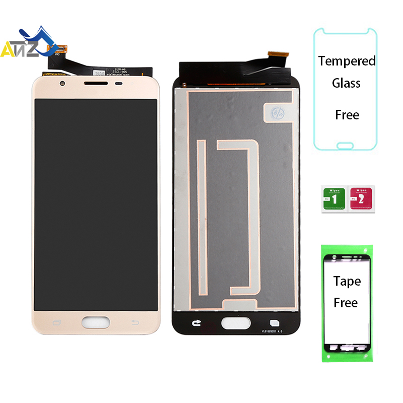 An'Z Para Samsung Galaxy J7 prime G610F/DS Tela LCD SM-G610 G610M G610K/L/S 2016 lcd exibição OEM ekran pantalla Toque Digitador