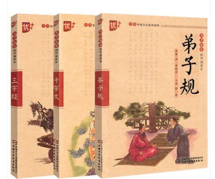 Chinese Learning Reader: Three Character Classic Di Zi Gui Qian Zi Wen Pinyin Children's Lesson Foreign Study Enlightenment Book